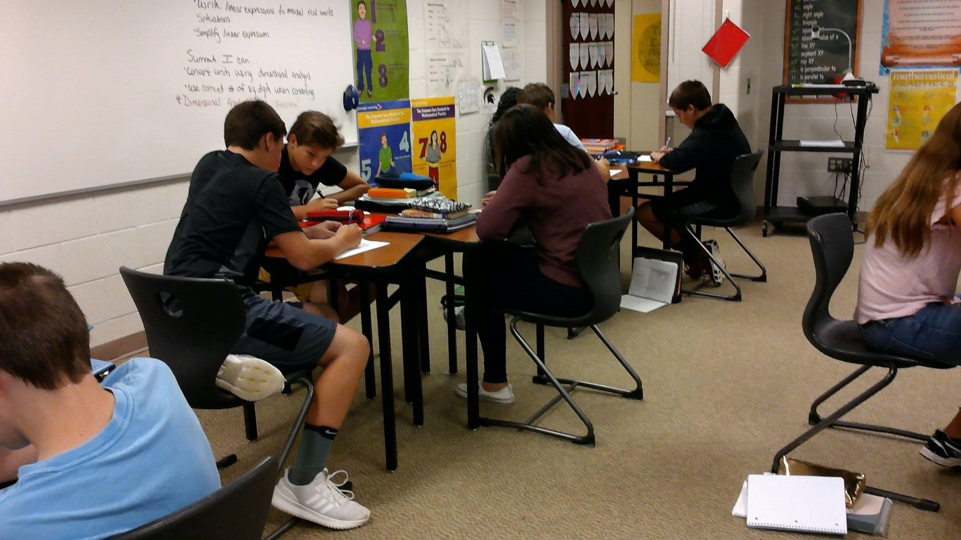 Mrs. Miryam Zayed's math classes are off to a great start!
