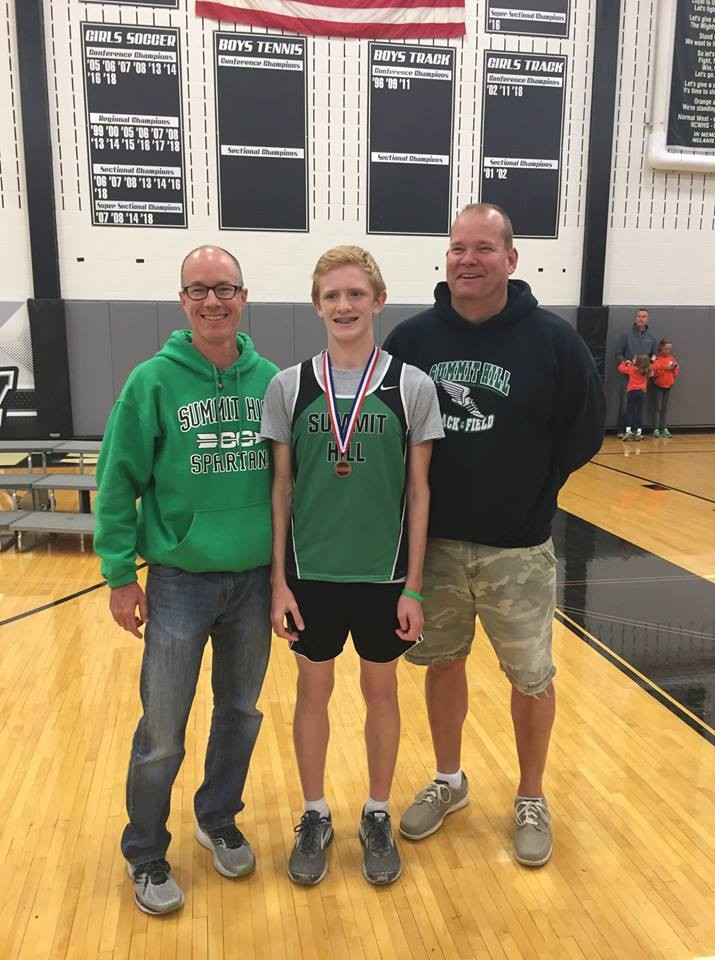 Gerry Cushing:   Congratulations on IESA Cross Country 3A State Championship